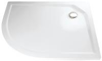 HSK Acryl Viertelkreis-Duschwanne super-flach 90 x 80 x 3,5 cm, ohne Schürze