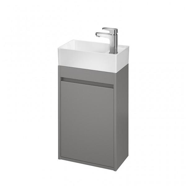 Neuesbad Serie 300 Waschtischunterschrank, B:390, T:215, H:590mm, Grau matt