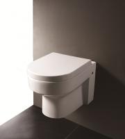 Neuesbad 5000 Wand-Tiefspül-WC weiss mit Nanobeschichtung, mit WC-Sitz mit Absenkautomatik