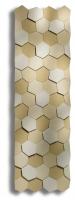 Caleido honey zweilagig Badheizkörper B: 650 mm x H: 2200 mm
