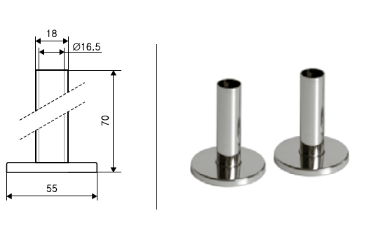 Terma Einzel-Blenden-Set, chrom