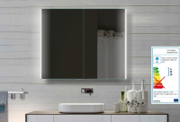 Neuesbad LED Spiegelschrank mit lichtleitendem Acrylstreifen, B:800, H:720, T:130 mm