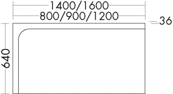 Burgbad Leuchtspiegel Sinea 640x1600x36 Sinea Thermo, SICL160L312