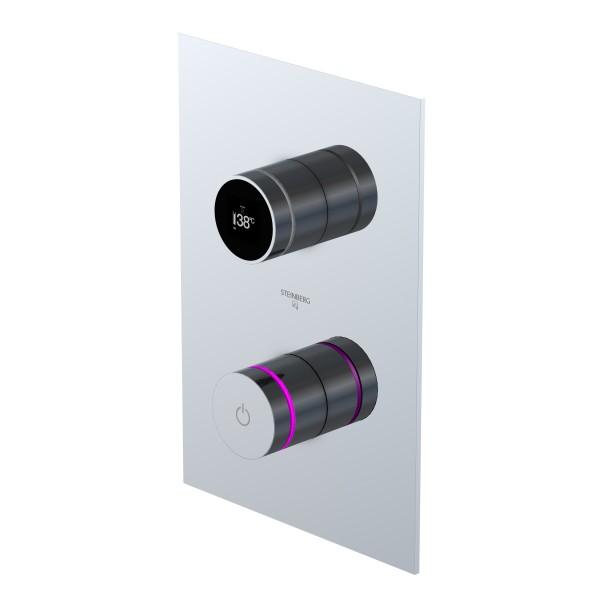 Steinberg iFlow vollelektronische Armatur mit Digitalanzeige, chrom, 3904126