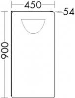 Burgbad Cala 1.0 Spiegel LS0450, B:450, T:54, H:900mm