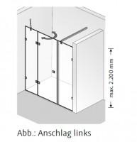 HSK Atelier Pur Drehtür pendelbar, an Nebenteil und Nebenteil, AP.108
