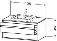 Duravit Waschtischunterschrank wandhängend Ketho T:550, B:1000, H:496mm, KT6755