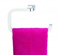 Neuesbad Handtuchring NIKA, weiss-chrom