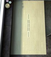 Fiora Silex Privilege Duschwanne, Breite 75 cm, Länge 100 cm, Farbe: creme