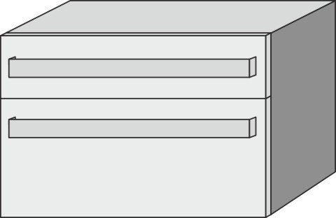 Sideboard mit Steckd. Up2U GT12212, Esche Natural-Touch, H:540, B:800, T:449 mm GT12212