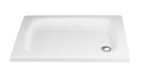HSK Acryl Quadrat-Duschwanne flach 80 x 80 x 10 cm, ohne Schürze