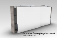 Artiqua DIMENSION 112 Schiebetürenspiegelschrank B:1680mm