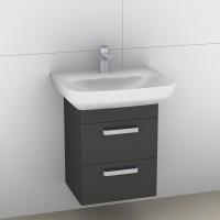 Artiqua Serie 414 Waschtischunterschrank mit 1 Blende und 2 Auszügen, 414-WU2L-V11-7015-51