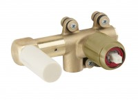 Herzbach Herzbach Logic-IX Uni WT-Wandbattatterie UP-Rohmontage für Edelstahl Brass, 21.731000.1.41