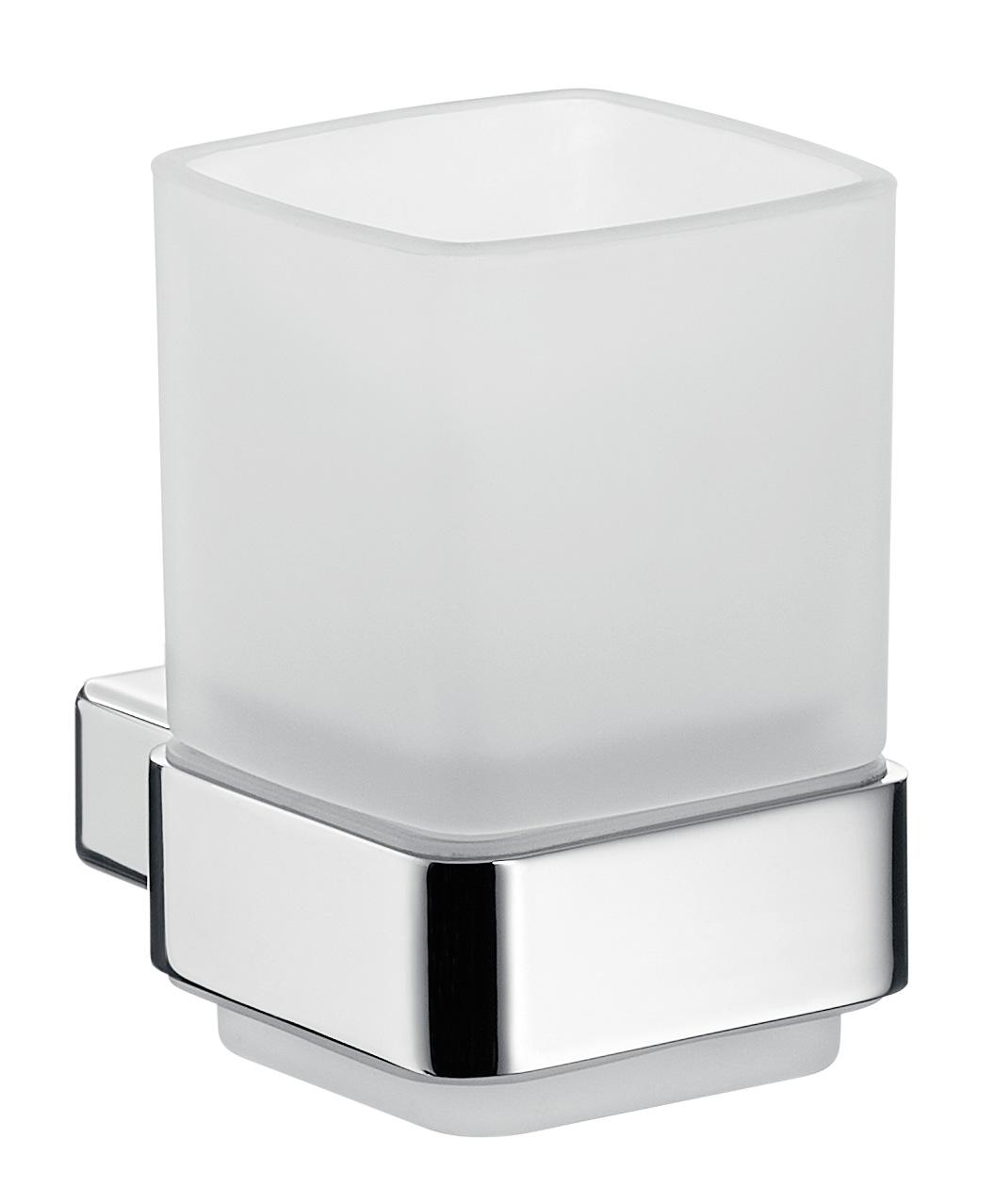 Emco loft Glashalter Kristallglas satiniert chrom