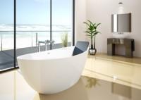 Hoesch Badewanne Namur 1500X650 freistehend, Material Solique, weiß, 4405.010