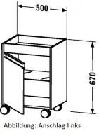 Duravit Rollcontainer Ketho T:360, B:500, H:670mm, KT2530 , Front/Korpus: nussbaum natur, KT2530L797