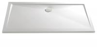 HSK Acryl Rechteck-Duschwanne super-flach 80 x 100 x 3,5 cm, ohne Schürze