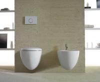 Globo Bowl Wand-WC, B: 380, T: 550 mm, SBS02BO, weiss matt