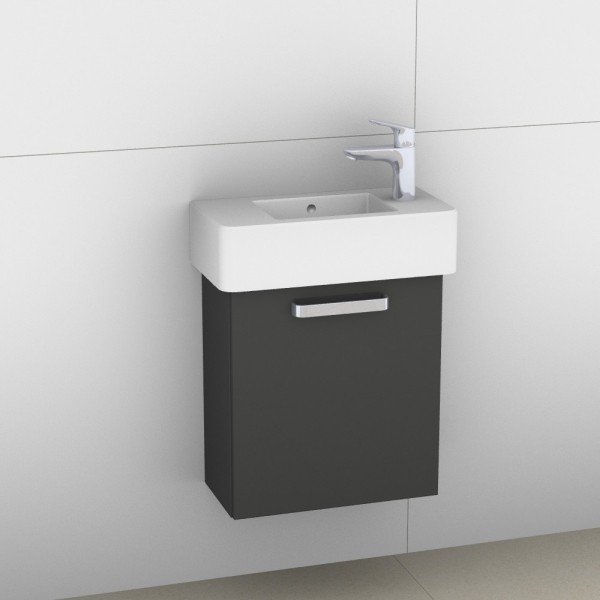Artiqua 411 Waschtischunterschrank für Vero 070350, Anthrazit Glanz, 411-WUT-D28-L-7065-51