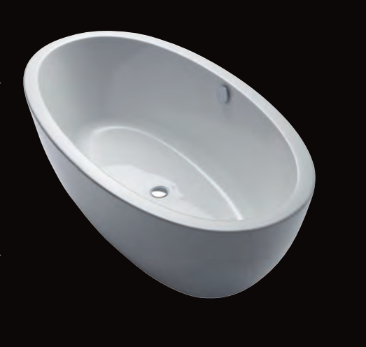 Ferrara 180/85 F freistehende Badewanne, L: 1800, B: 850, H: 600 mm, weiss 31519W