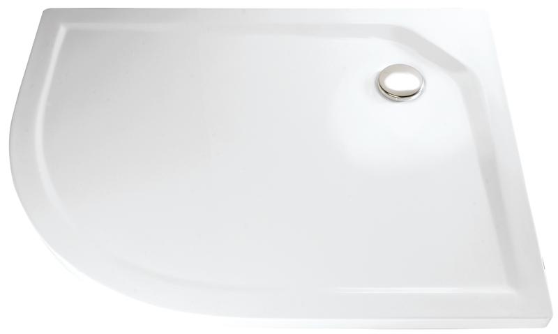 HSK Acryl Viertelkreis-Duschwanne super-flach 90 x 100 x 3,5 cm, ohne Schürze 505211-calypso