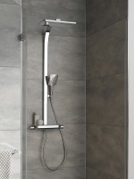 HSK Shower-Set AquaTray Thermostat mit Schwall, mit Glasablage