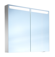 Schneider Spiegelschr. Arangaline/80/2/LED, 1x17W+1x12W LED 800x700x120 alueloxiert, 160.080.02.50