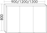 Burgbad Spiegelschrank Sys30 PG2 800x1600x190 Weiß Hochglanz, SPEY160461
