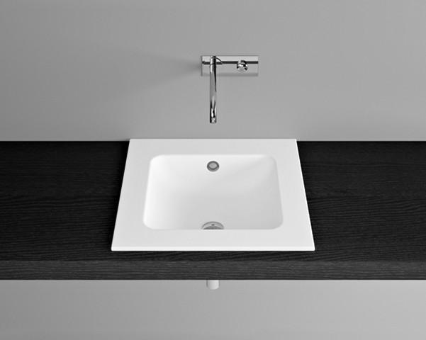 Image of Bette Einbauwaschtisch One 53x53x1 cm, ohne Bohrung, beige 420 Glasurplus, A126-420PW A126-420PW