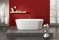 Freistehende Badewanne Flora 1800x800x440 mm, weiß