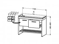 Duravit Waschtischunterschrank stehend 2nd floor 490x1180x860-