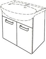 Keramag Waschtischunterschrank Renova Nr. 1, 880067 600x590x310mm Weiß, Wenge, Y880067000