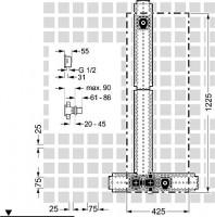 Hansa Unterputz-Installationspaket 11.0 Therm.-Batterie, Hansamatrix 4486, 44860041