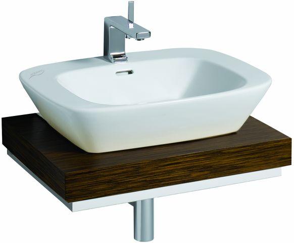 keramag waschtisch platte silk 816360 ausschn mittig. Black Bedroom Furniture Sets. Home Design Ideas