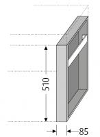 Sanipa Konsolenplatte vertikal mit Handtuchhalter, WT79814 Pinie-Grau