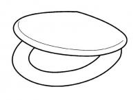 Pagette Orenda WC-Sitz mit Deckel, ohne Absenkautomatik, weiss