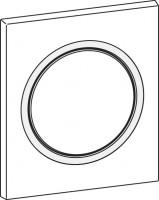 Mepa Frontplatte Urinal-Druck-, spüler MEPAzero, weiß, 590257