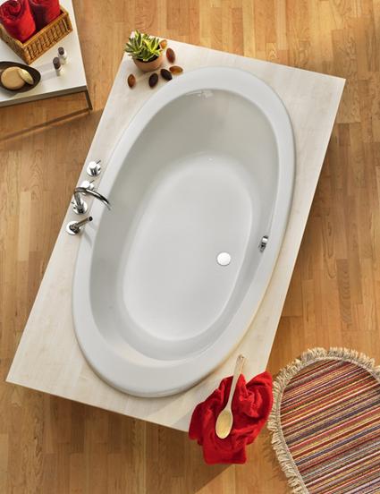 Acryl Oval Badewanne Gomera 1800x960 mm, weiß