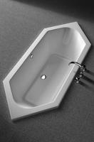 Koralle Badewanne T200 Sechseck 195/80 Überlauf mittig , K69650000