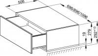 Bette Modules Lowboard mit Sockel 1 Ausz, 110x53 cm weiß Hochglanz, RLF1-800