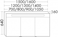Burgbad Spiegelschrank Sys30 PG2 640x1050x160 Weiß Hochglanz, SPJA105L461