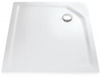 HSK Marmor-Polymer Quadrat Duschwanne 100 x 100 x 3,5 cm, weiss, ohne Schürze