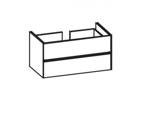 Artiqua 116 LED-Waschtischunterschrank, Weiß Glanz, 116-WU2LB-AC08-7050-68