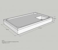 Schedel Wannenträger für Kaldewei Superplan superflach 750x1200x25