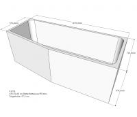 Neuesbad Wannenträger für Bette Luna 170x75 Ausf.li