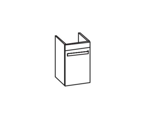 Artiqua 411 Waschtischunterschrank für 2nd Floor 079040, Weiß Glanz, 411-WUT-D15-L-7050-68