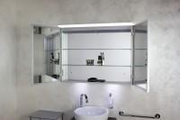 Koh-I-Noor Spiegelschrank mit diffuser Led-Beleuchtung oberhalb. TOP 120x70x12,5, 45307B