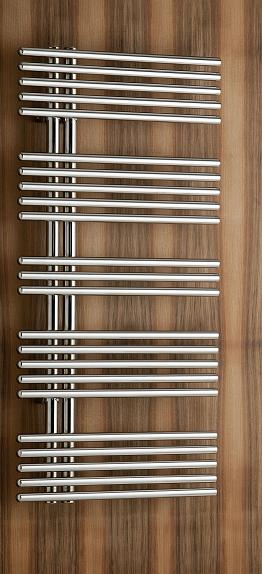 Pavone single Badheizkörper (Mischbetrieb), B: 510 mm x H: 856 mm 515008M-metgrau