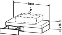 Duravit Konsole mit Schubkasten Fogo T:550, B:1000, H:215mm, FO85220